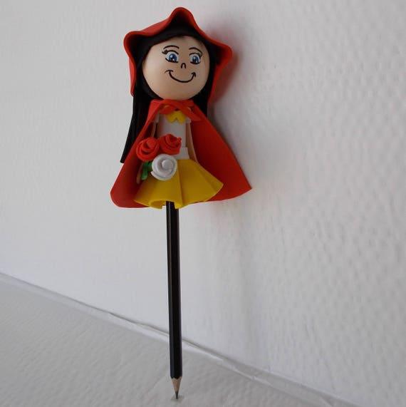 Chaperon Embout De Crayon Poupee Fofuchas