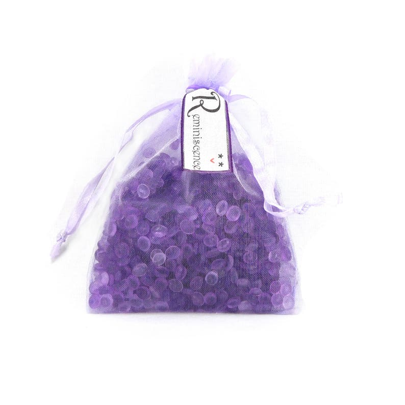 Scented Sachets Set of 2 Organza Bag Sachets Fragrance Blend-Reminiscence Fragrance Beads Aroma Beads