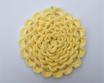 Crocheted Flower Petal Potholder/Hot Pad
