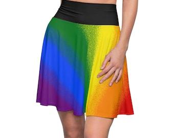 3f7dbd95a1 Rainbow Gay Pride Flag Womens Skater Skirt Trans Pride Flag Queer Lesbian  Asexual Lgbt Bisexual Lgbtq
