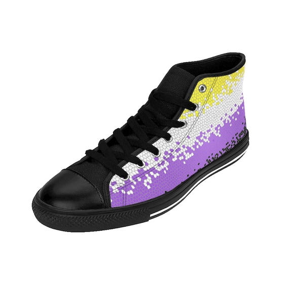 Flag Pansexual Trans Nonbinary Sneakers Lesbian Bisexual Asexual Queer Lgbt Womens Hightop Pride Mosaic Sizing 5qaAHFqz