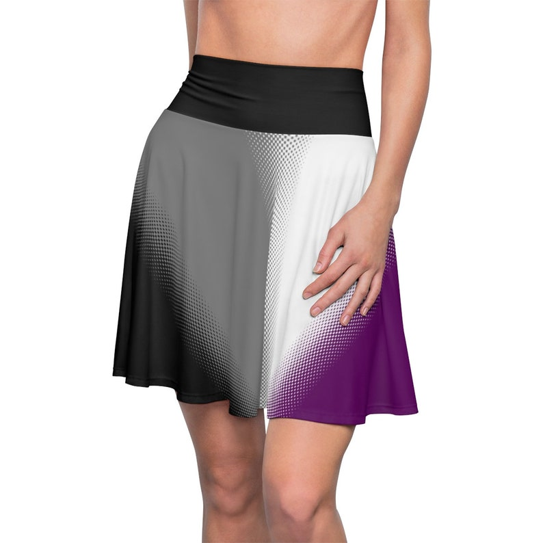 540fdcf364 Asexual Pride Flag Womens Skater Skirt Lgbt Gay Pride Flag | Etsy