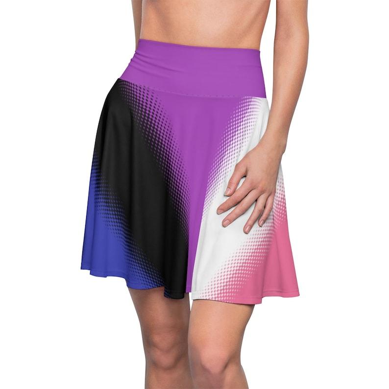 44787074e0f ... Genderfluid Pride Flag Skater Skirt Lgbt Gay Pride Flag image 7 ...