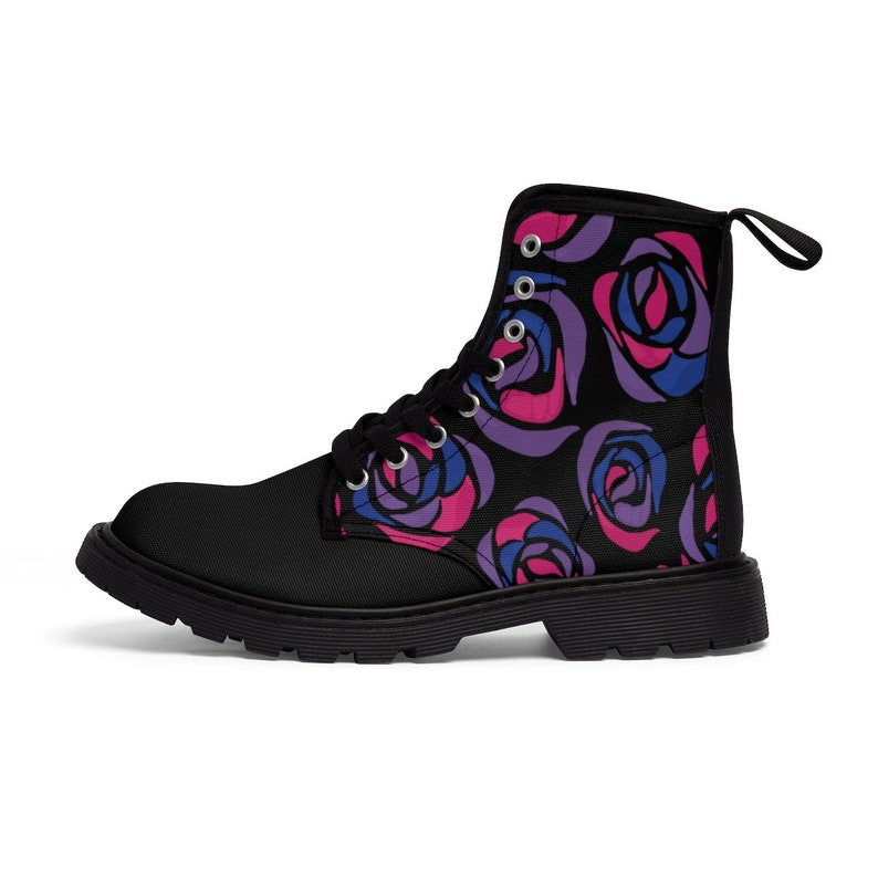 b5aba53a3d Bisexual Pride Rose Pattern Womens Sizing Martin Boots Queer | Etsy