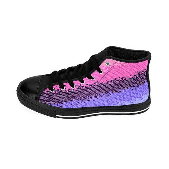 Lesbian Sizing Sneakers Omnisexual Bisexual Transgender Pride Pride Lgbt Queer Mosaic Gay Womens Flag Hightop gqqTwnHfv