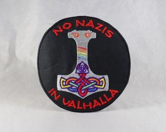 No Nazis In Valhalla antifascist antifa Mjolnir Pride Asatru Thor