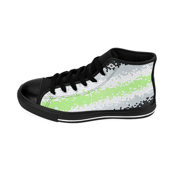 Pride Pansexual Hightop Trans Sizing Flag Mosaic Womens Bisexual Agender Lesbian Asexual Lgbt Queer Sneakers xqzRZX