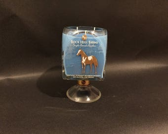Rock Hill Farms Candle/Rock Hill Rockhill Farms Bourbon Whiskey Bottle  Candle With/Without Pedestal Base/Buffalo Trace Horse Candle 750ML