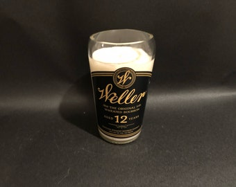 Weller Bourbon Candle/Buffalo Trace Weller 12 Year Bourbon Whiskey BOTTLE Soy Candle 750ML. Made To Order/I Can Also Do As Drinking Glass
