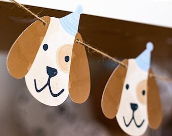 Puppy Dog Garland, Adopt puppy, adopt puppy decor, puppy decor, puppy party, dog decor, dog party, puppy theme, puppy garland, puppy banner