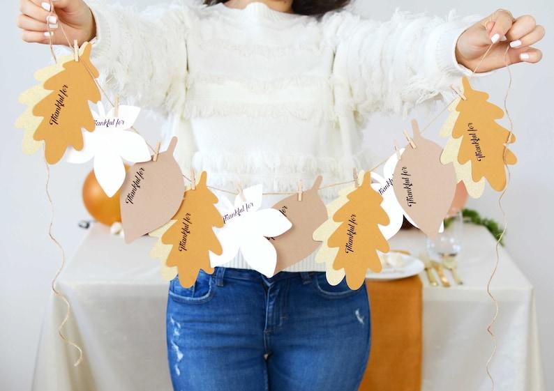 Personalised Gratitude Garland banner custom thanksgiving image 0