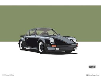 1977 Porsche 911 Turbo - A3 art print