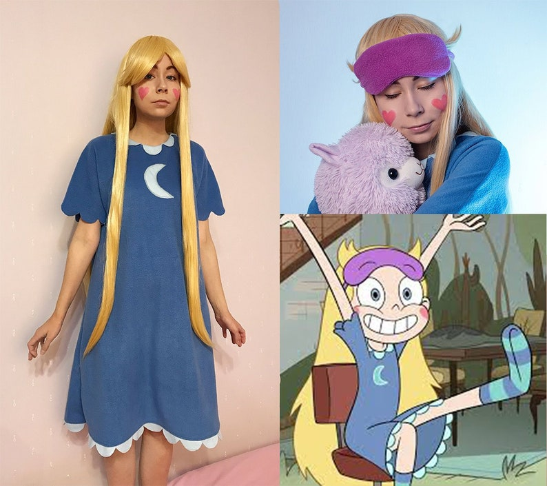 the Forces of Evil Star Christmas Gift Disney princess IN STOCK Star Butterfly Pajamas Nightie Dress Cosplay Halloween Costume Star vs