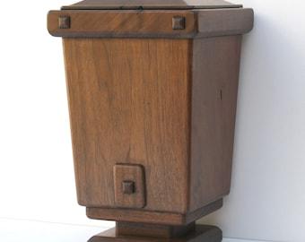 Decorative Urn - Handcrafted Solid Hardwood
