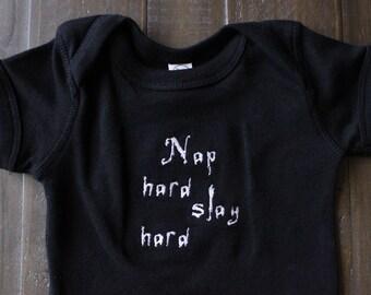 71e3a91a4d Nap Hard Slay Hard Bodysuit