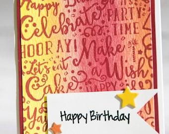 Happy Birthday! - Handmade watercolor card