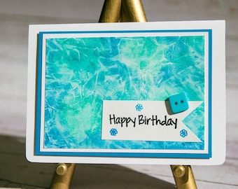 Happy Birthday - Handmade watercolor card