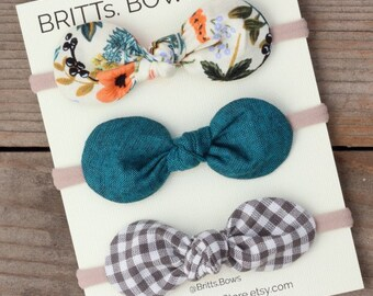 Baby Accessories Hair Accessories Brave Blue Bow Baby Headband
