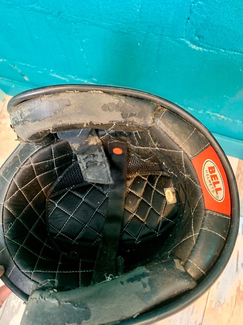 Vintage Copper Metal Flake Bomber Motorcycle Helmet