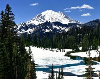 Frozen Wilderness, Mount Rainier National Park, Winterscape, Landscape Photography, Nature Print, Fine Art Photography