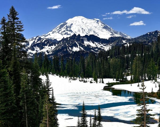 Featured listing image: Frozen Wilderness, Mount Rainier National Park, Winterscape, Landscape Photography, Nature Print, Fine Art Photography