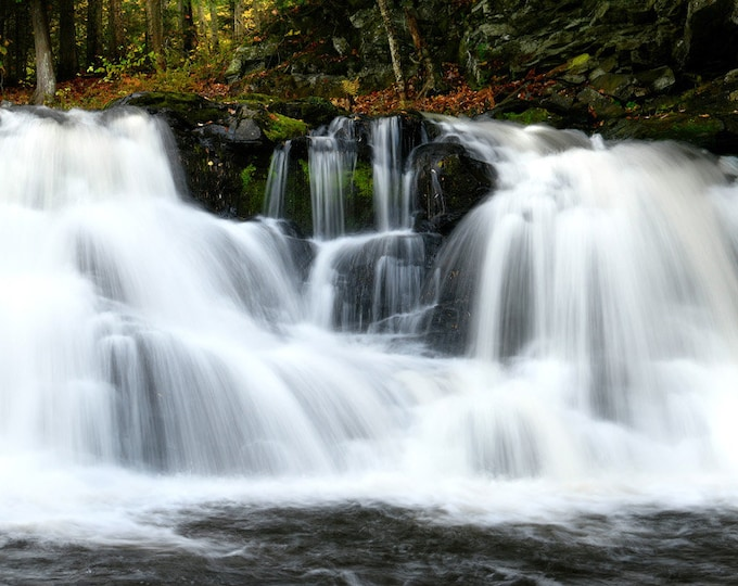 """Featured listing image: Waterfall Photo, Michigan, Marquette, Landscape Photography, Nature Print, """"Powerhouse Falls"""", Fine Art Photography"""