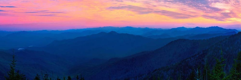 Sunset Photo Clingman's Dome Great Smoky Mountains image 0
