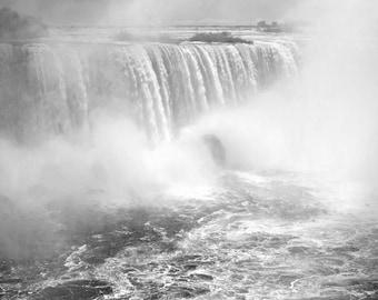 "Waterfall Photo, Niagara Falls, Horseshoe Falls, Landscape Photography, Nature Print, ""Mists of Niagara Falls"", Fine Art Photography"