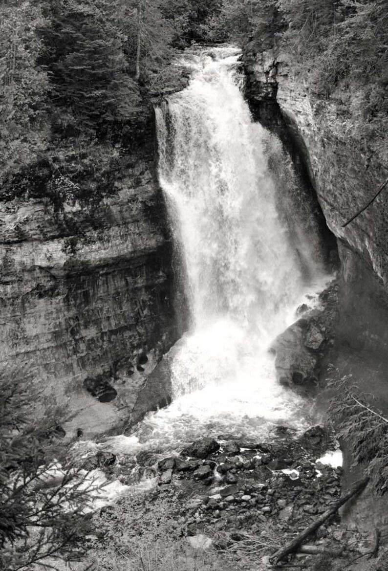 Waterfall Photo Pictured Rocks Lakeshore Michigan Landscape image 0