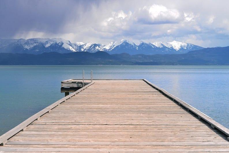 Water Photo Dock Photo Flathead Lake Montana Rocky image 0
