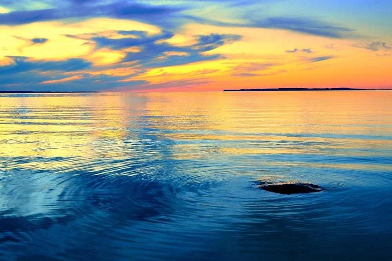 Sunset Photo Lake Michigan Michigan Landscape Photography image 0