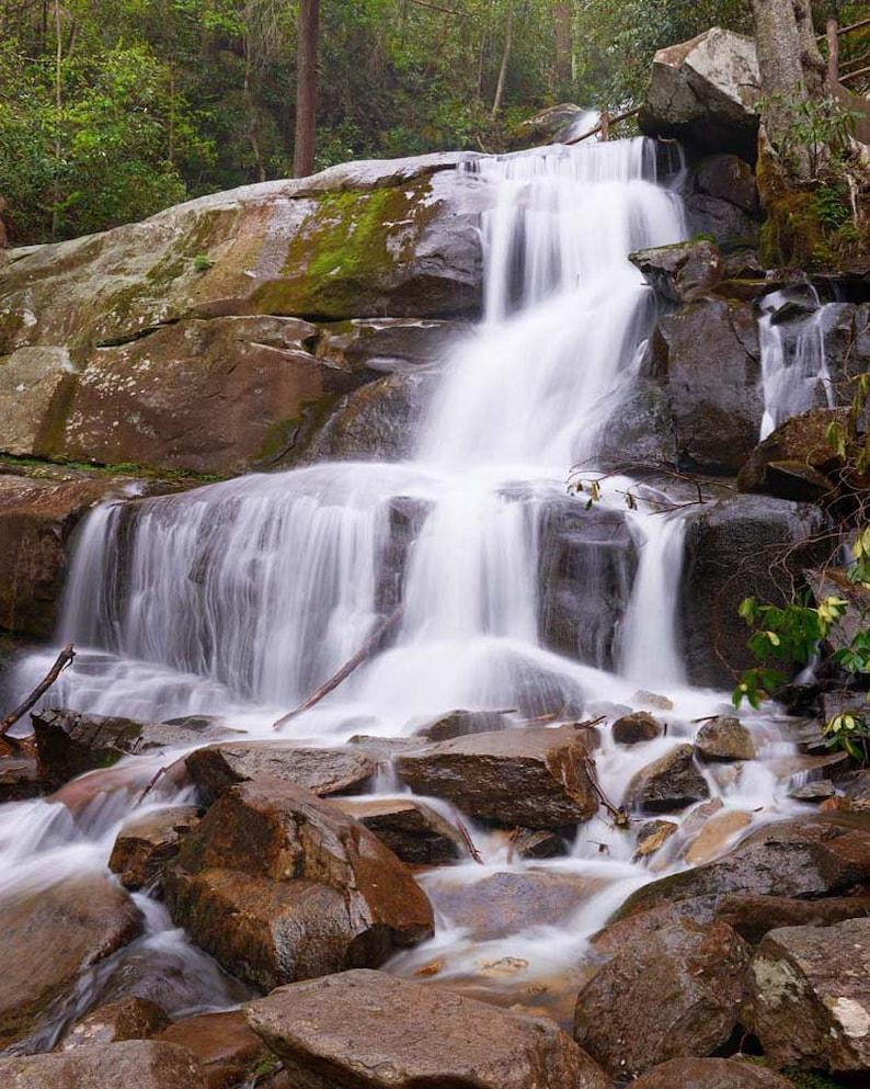 Waterfall Photo Great Smoky Mountains Landscape Photography image 0