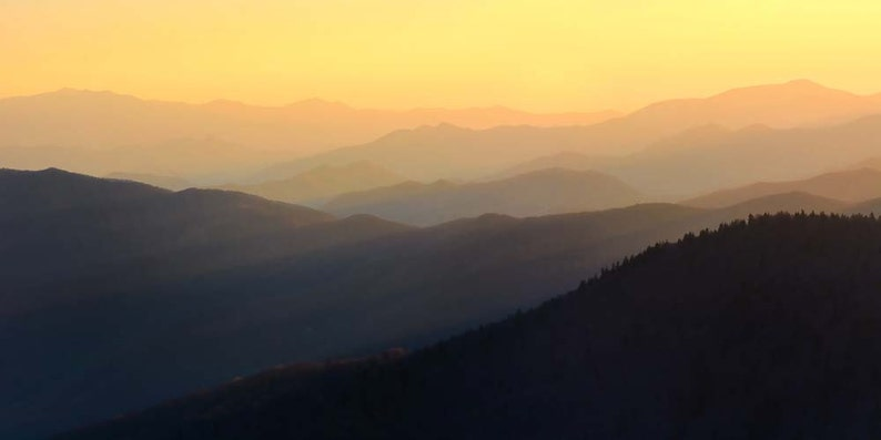 Sunset Photo Great Smoky Mountains Landscape Photography image 0