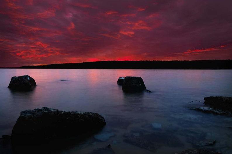 Sunset Photo Lake Superior Grand Island Michigan Landscape image 0