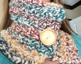 Crocheted Adjustable Cowl Scarf