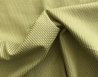 Green Cotton Woven Stripe Fabric BY THE YARD