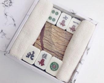 Mahjong Tile Soaps, Funny Soaps, Unique Gift, Guest Soap - Set of 6