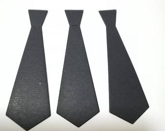 """Black Tie 2"""" Cut outs, Confetti - Set of 50pcs,100pcs- Choose your Colors"""