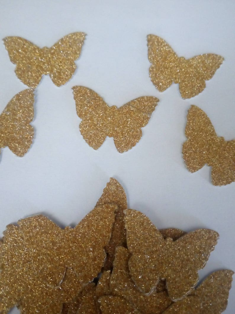 Cinderella Party Decorations; Gold Glitter Butterflies; Butterfly Confetti; Butterfly Die Cuts; Table Party Decor;Large Butterfly Die Cuts