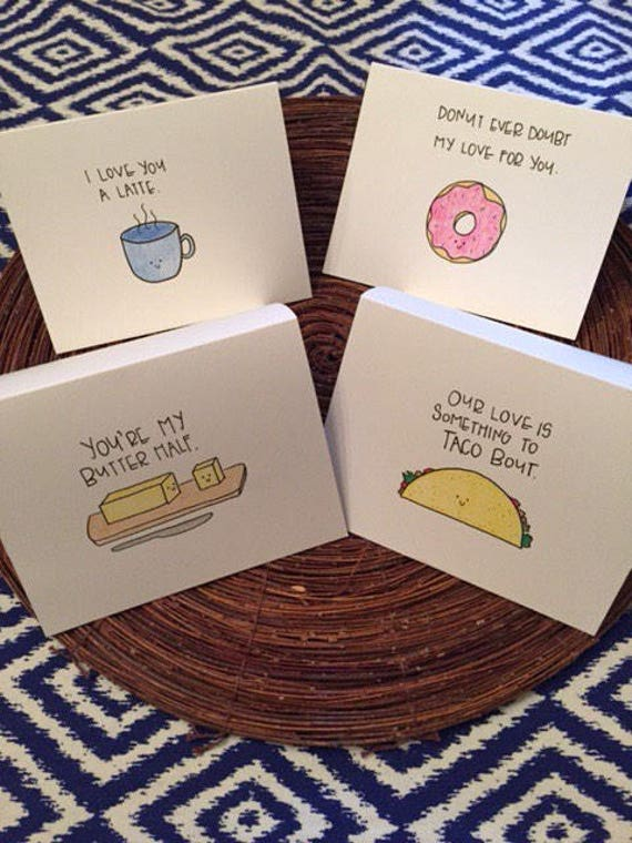 Funny Love Card Valentine S Day Card Food Pun Card Etsy