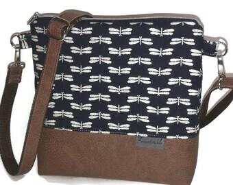 Shoulder bag dragonflies