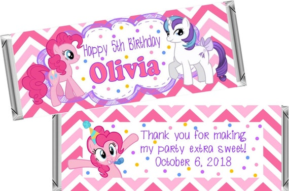 Print At Home My Little Pony Theme Chocolate Wrappers Printable Digital