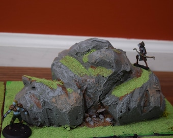 Medium Hillside Tabletop Terrain for  Dungeons and Dragons or other Tabletop RPGs