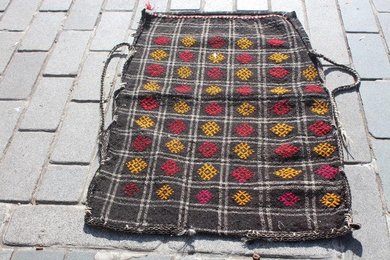Anatolian Handwoven Bag Konya Kilim Bag, TURKISH NOMADIC CHUVAL,27x46 inch Vintage Embroidered Sack 70x117 cm Oriental Storage Sack
