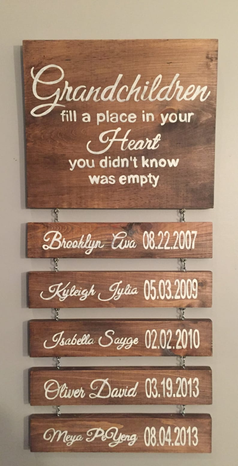 Wood Sign Grandparents Sign Farmhouse Grandparents Wood Sign Modern Farmhouse Rustic Grandparents Personalized Wood Sign Rusrtic Decor