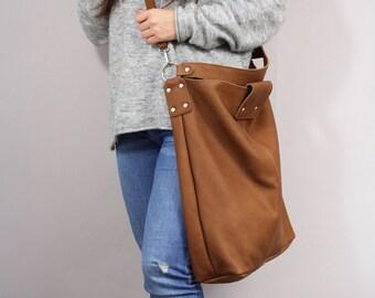 Brun surdimensionné cuir grand sac sac cabas, chaque sac de jour, les  femmes cuir Tote Slouchy, brun sac à main pour femmes sac en cuir souple ac2b411e5bd