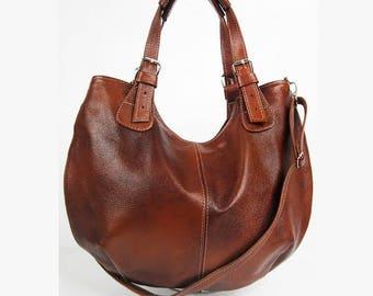 LEATHER HOBO BAG Brown Cross Body Bag Leather Shoulder Bag Leather Handbag  Top Zip Bag Large Hobo bag Brown Leather Purse Women s Bag d57d82ed28