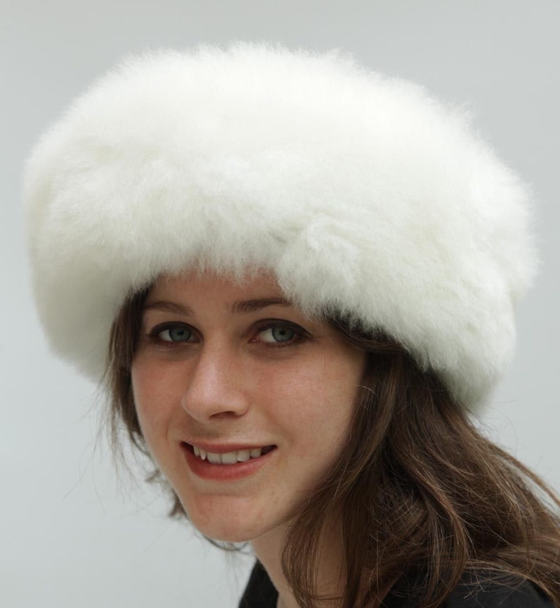 winter hat for a beautiful woman Baby alpaca wool luxury hat Russian hat