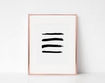 Abstract Art, Brush Prints, Modern Wall Art, Black Painting, Modern Prints, Brush Stroke Print, Brush Strokes