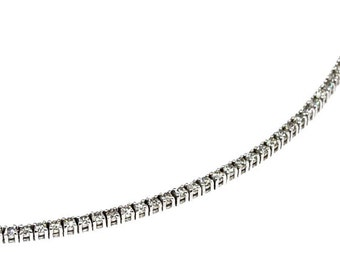 River (5.30 cts) diamond necklace 18K white gold